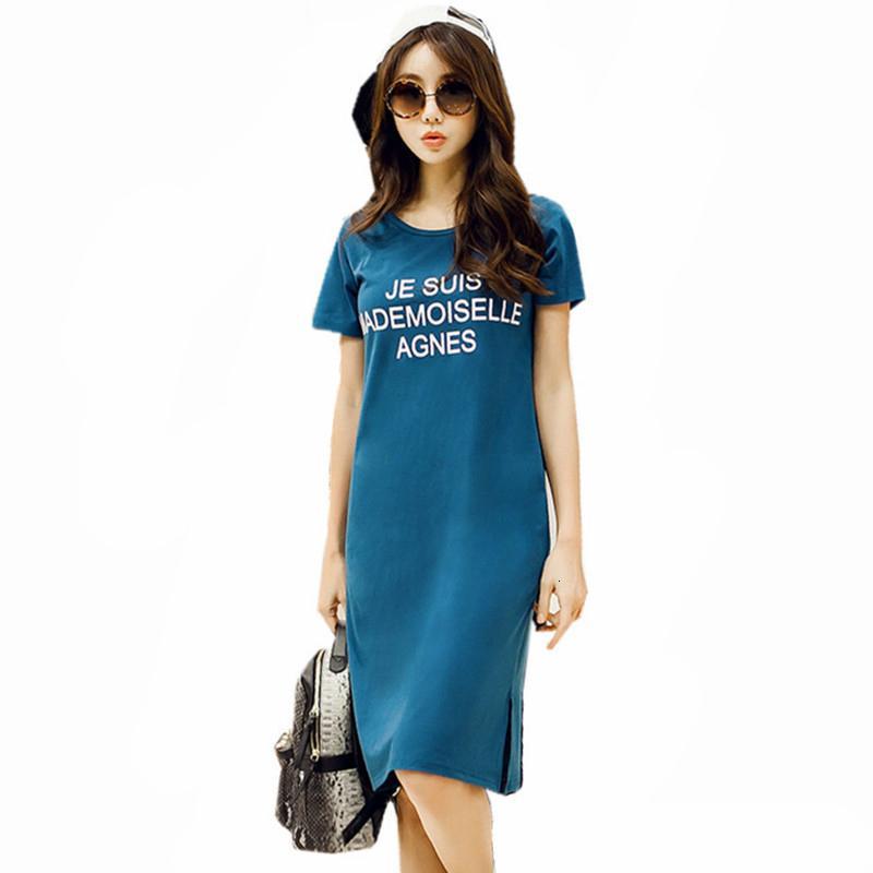 Artı boyutu Elbise Kadın Elbiseler 2019 Yaz Flutter Kol Tişörtlü Kadın Üst Tees Gömlek Casual Kadın Kısa Kollu 5XL 6XL Wxf694