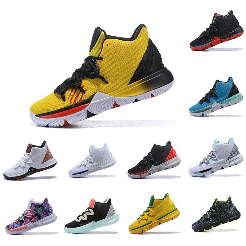 Irving 2019 Limited 5 Hombres Zapatillas de baloncesto 5s Black Magic para Kyrie Chaussures Trainers de basket ball Zapatillas de deporte para hombre Zapatillas 40-46