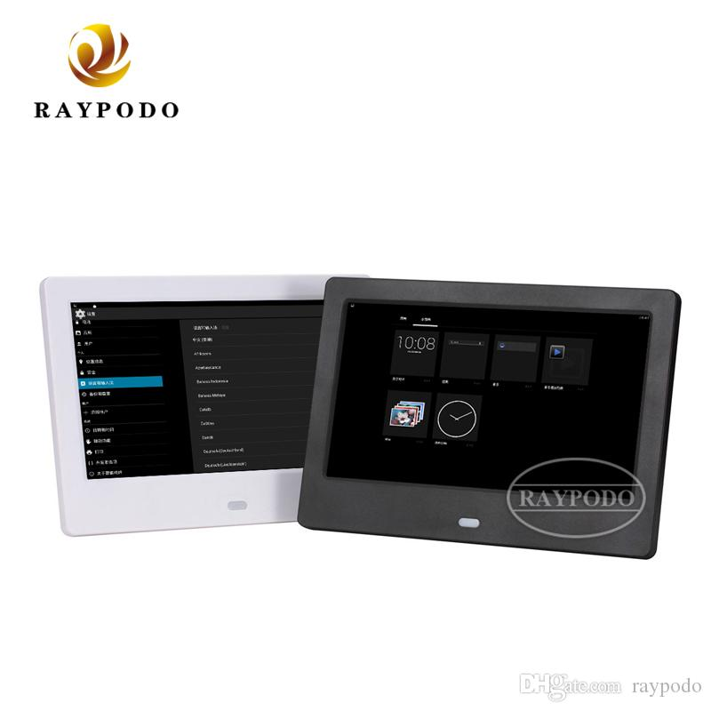 Raypodo 7 Inch 1024 * 600 Resolution touch screen wifi mini Digital Photo Frame With wall mount