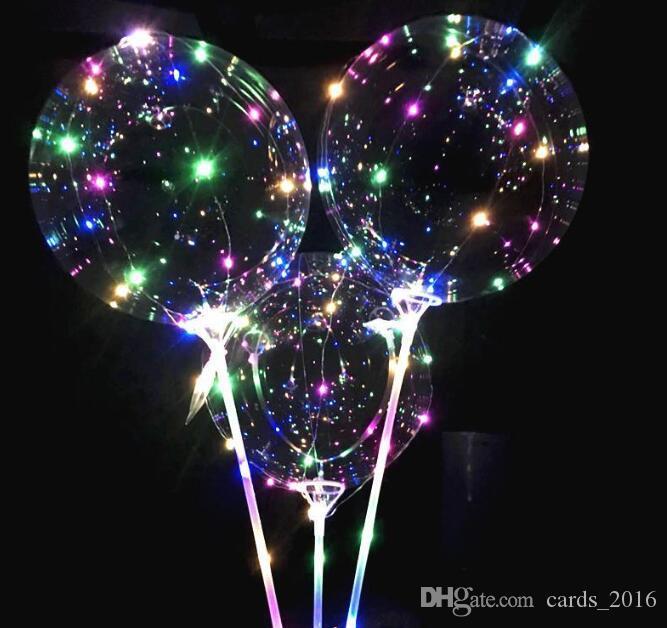 Leuchtende LED-Ballone mit Stock geleuchtet Ballon für Kindergeburtstagsfeier Hochzeit Dekorationen