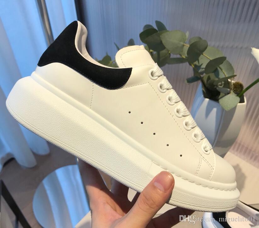 Cheap donne degli uomini della scarpa da tennis dei pattini casuali superiore di cuoio reale della scarpa da tennis Skateboard pattino pelle Velvet Sneakers 36-45