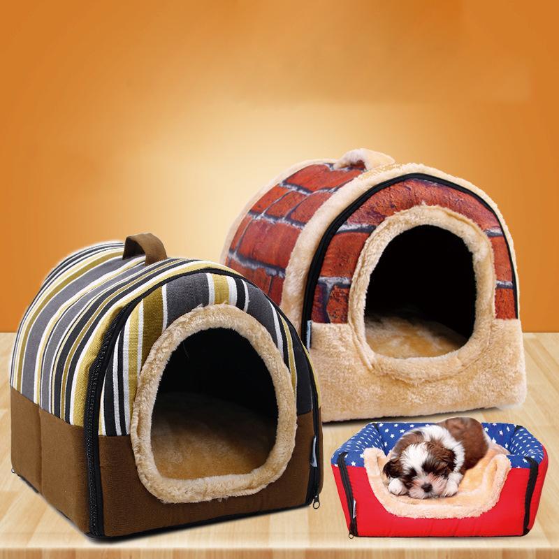 Nouveau Pet Chien Chenil Chat Lit Maison Chaud Doux Tapis Literie Igloo Panier De Couchage Nid Lavable Snug Drop Ship Produits