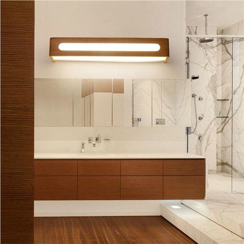 Lámpara de pared led nórdica simple dormitorio de madera maciza japonesa lámpara de cabecera estudio estudio espejo lámpara frontal espejo luz-I139