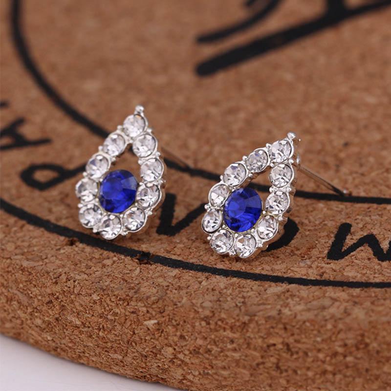 Pendientes de la mujer exquisita Pequeño cristalinos del perno prisionero Simlated pendiente de la perla para las mujeres pendientes de joyería Pendientes Brincos