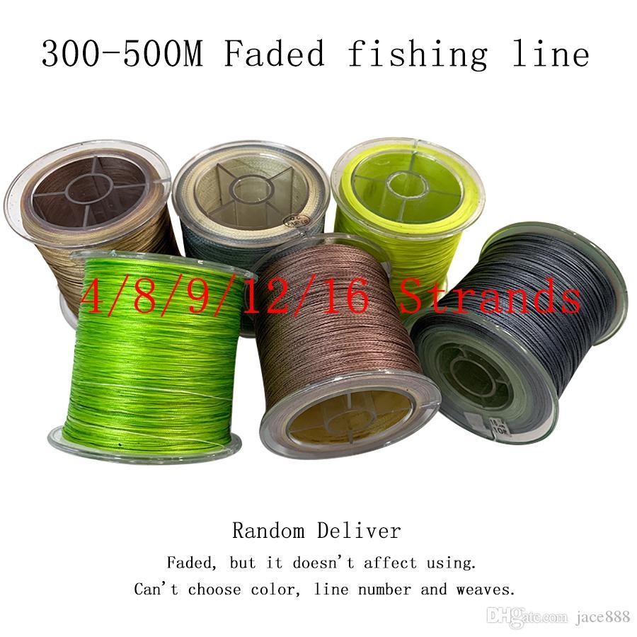 1pcs 4/8/9/12/16 Ligne de pêche Brins Tressé 300M-500M PE Braid Multi Color Super Strong Japon multifilament Ligne de pêche au hasard Livrer
