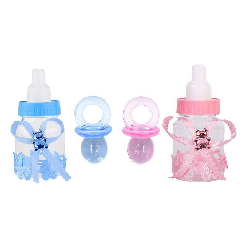 12 Paquet Bonbons bouteilles et 50 Pack acrylique Mini suces pour bébé Party Douche