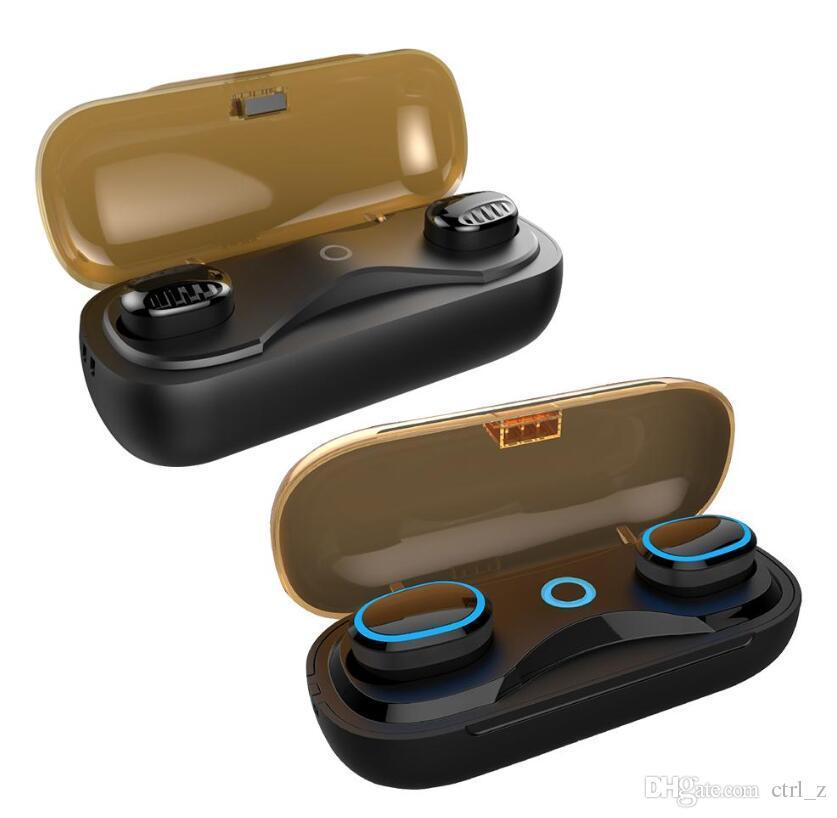 T16 TWS Drahtlose Bluetooth Kopfhörer V5.0 Kopfhörer-Noten-Kopfhörer IPX7 Wasserdichte binaurale Stereokopfhörer für iPhone X Xs maximales 8 Samsung