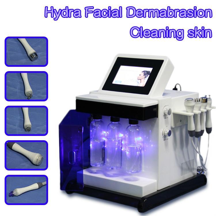 Nettoyage du visage Hydro dermabrasion machine 5 In1 microdermabrasion Oxygénés sang HydraFacial peau eau diamant dermabrasion Équipement