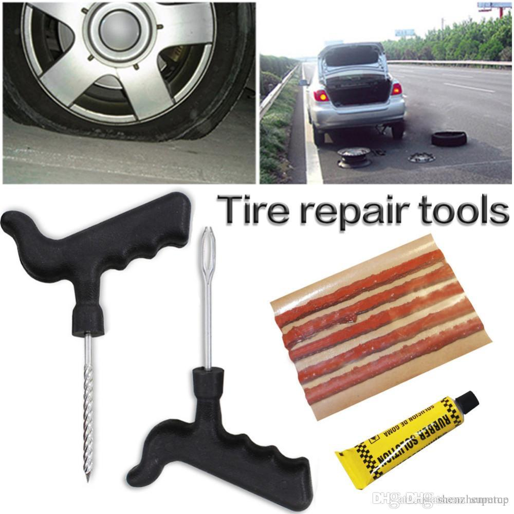 8pcs Car Tire Repair Tool Kit For Tubeless Emergency Tyre Fast Puncture //ND