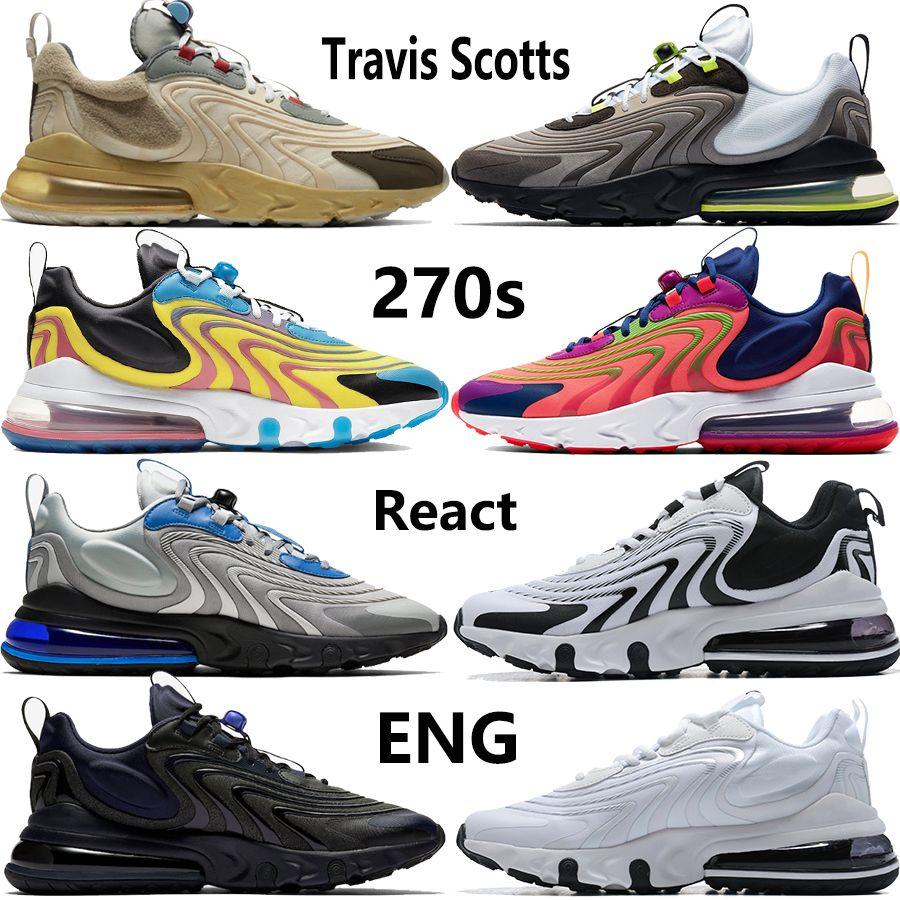 새로운 트래비스 스콧 27O는 실행 해 신발 미국 5.5-11 검정, 흰색, 보라색 밝은 회색 파란색 스포츠 운동화 트레이너 네온 여자 ENG 망 반응