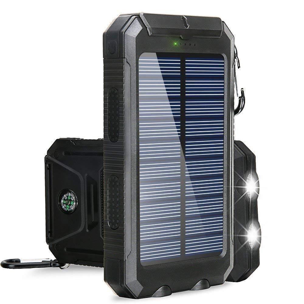 18650 30000mAh powerBank portable Power Flashlight Mobile Battery Charging Phone Pover Bank Solar For Xiaomi iphone8