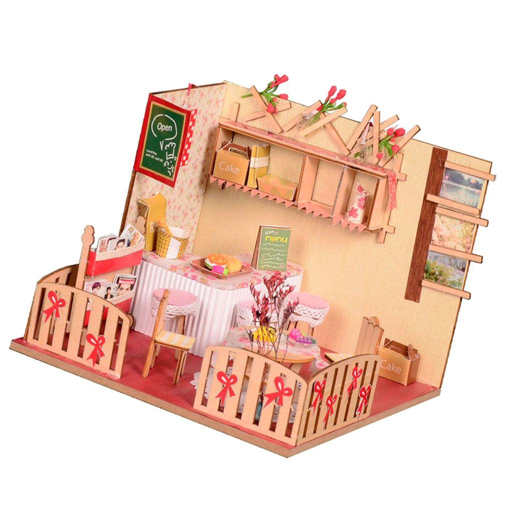 1:24 DIY Dollhouse Miniature Wood Dolls House Kits Romance Room Apartment