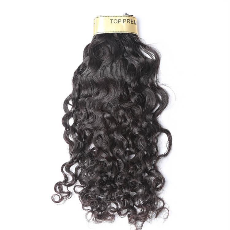 BeautyStarQuality Haut Grade Vierge Raw humaine Cheveux brésilienne Vague péruvienne et humide Wavy Hair Extensions
