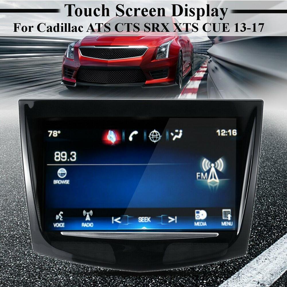 GRÁTIS DHL TRANSPORTE Nova uso de tela de toque marca para o carro Cadillac CUE CTS SRX XTS DVD GPS de navegação LCD digitador painel táctil
