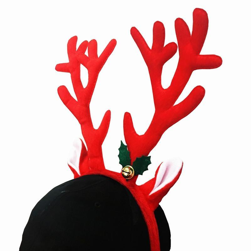 1шт милый Лось Длинный рог оголовье модная ткань рога оленей колокол Рождество головные уборы головной убор взрослых детей рождественские декоры