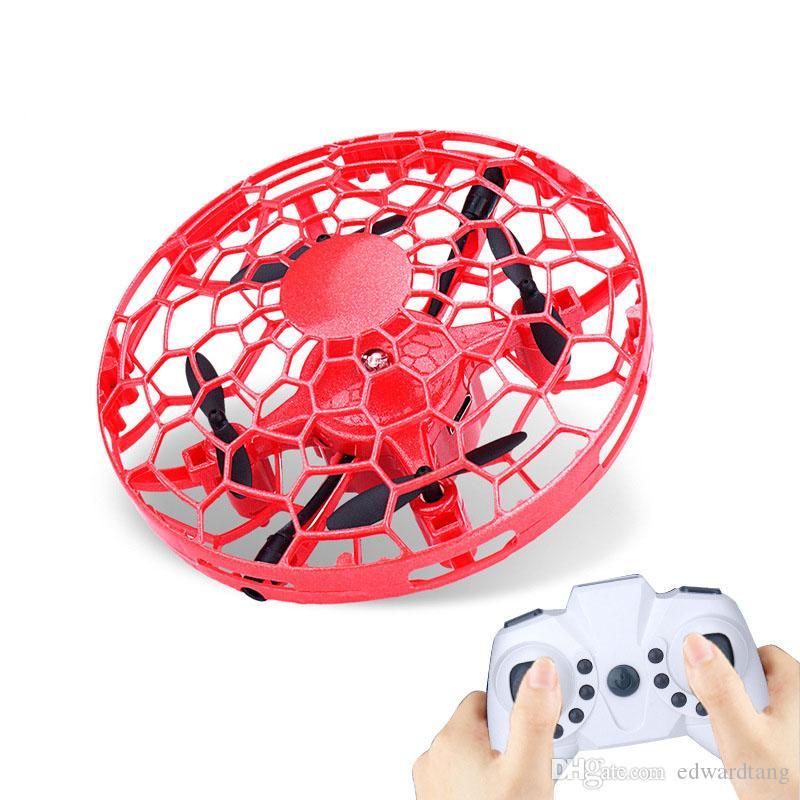 FLX التحكم عن بعد UFO لعبة، لفتة استشعار التفاعلية الطائرة بدون طيار، ارتفاع عقد كوادكوبتر، UAV مع أضواء ملونة، عيد الميلاد هدية عيد ميلاد طفل، 3-2