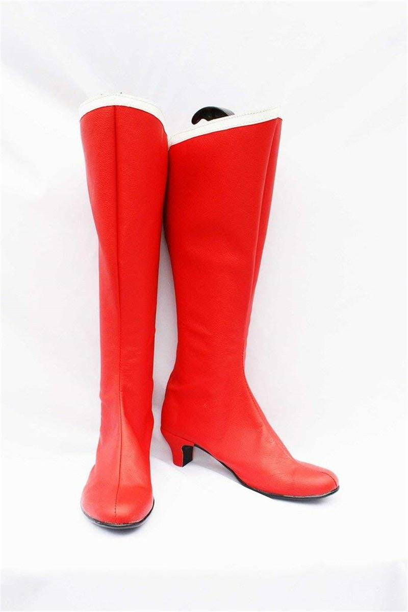 Malidaike 애니메이션 여자 세일러 문 선원 명왕성의 코스프레 패션 신발 빨간 부츠 코스프레 액세서리 높은 뒤꿈치 신발
