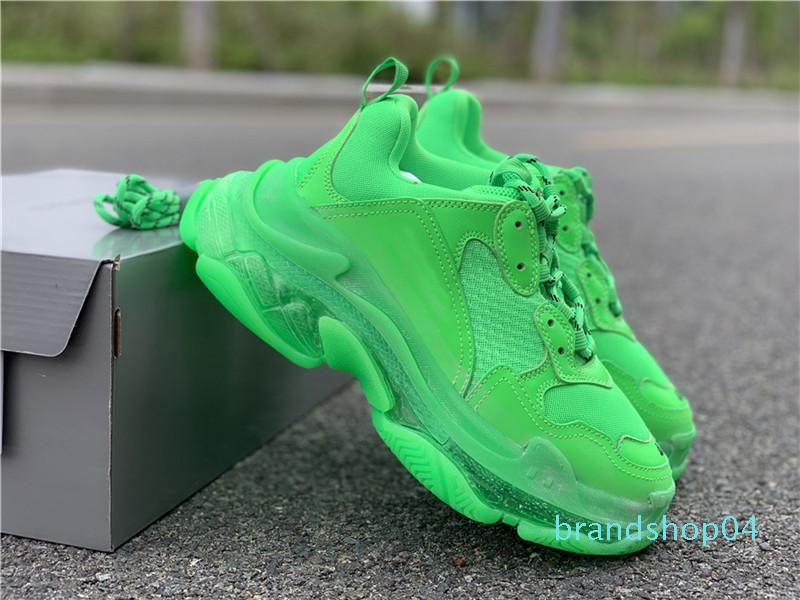 Femmes Hommes Luxe Papa Chaussures Casual Cristal Triple Bottom-S Loisirs Chaussures Sneakers Old vintage Grand-père formateur chaussures