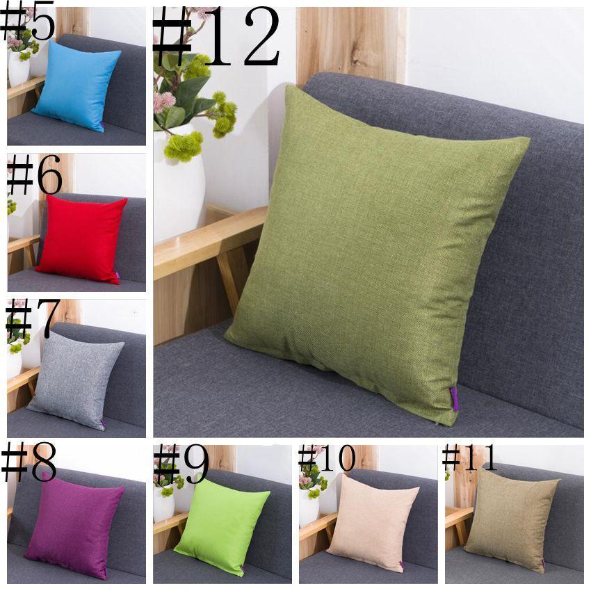 Plaid Pillow Case Plain Solid Pillow Cover Fashion Office Sofa Cushion Cover Throw Pillowcase Bedding Pillowslip Home Textiles Decor DHD92