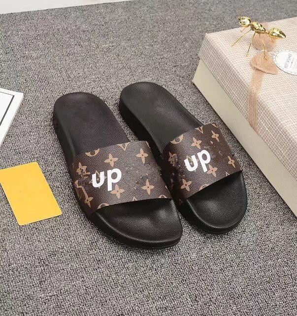 Designer de Borracha sandália de slides Floral brocade homens chinelo Engrenagem bottoms Flip Flops mulheres listrado Praia causal chinelo US4.5-12 210