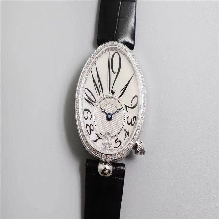 ZF 공장 아가씨 자동 기계 운동 36MM의 K 황금 거위 행 시계 케이스는 다이아몬드 양가죽 스트랩 범죄 시계 상감