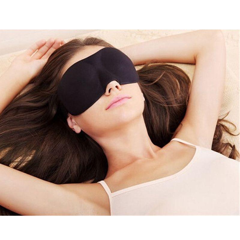 1Pc 3D Natural Sleeping Eye Mask Copertura dell'ombretto Ombra Benda sull'occhio Unisex Morbida spugna Benda portatile Viaggio Rilassare Benda sull'occhio