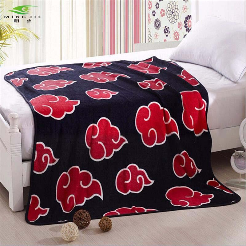 New Anime Naruto Shippuden Akatsuki Soft Warm Coral Fleece Plush Throw Blank Bed rug
