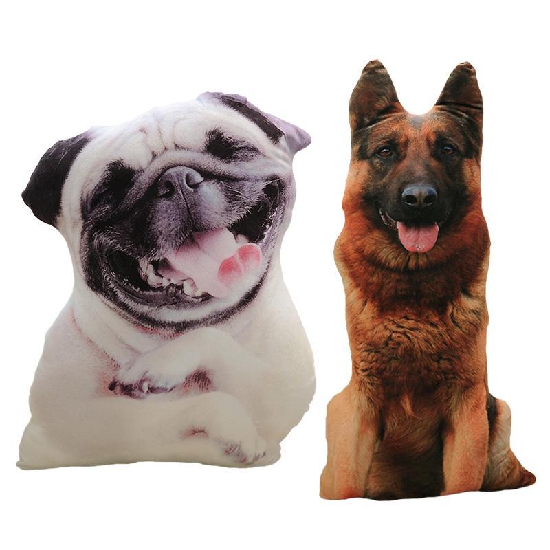 50 centímetros Cão bonito de Simulação Plush Toy Almofada Animal Cão Impressão 3D Stuffed Plush Pillow Stuffed desenhos animados Crianças boneca Início DECRO presente