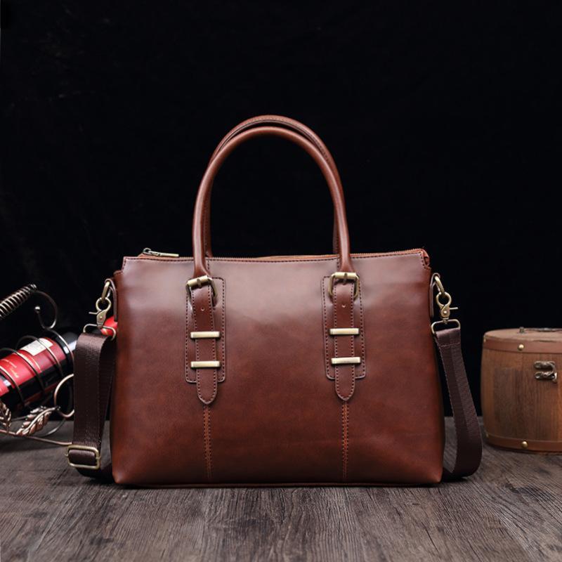 """Мода Бизнес Мужчина Портфель Сумка для кожи 14"""" ноутбук сумки Случайного человека плечо сумка Офис сумка Путешествие"""