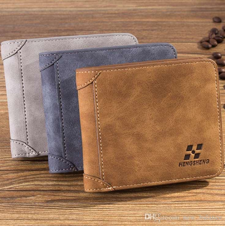 Masculino Pequeno Alto Pais Carteira Dinheiro Bolsa Clássica Moda Slim Quality Mens Saco Presente FMPaw
