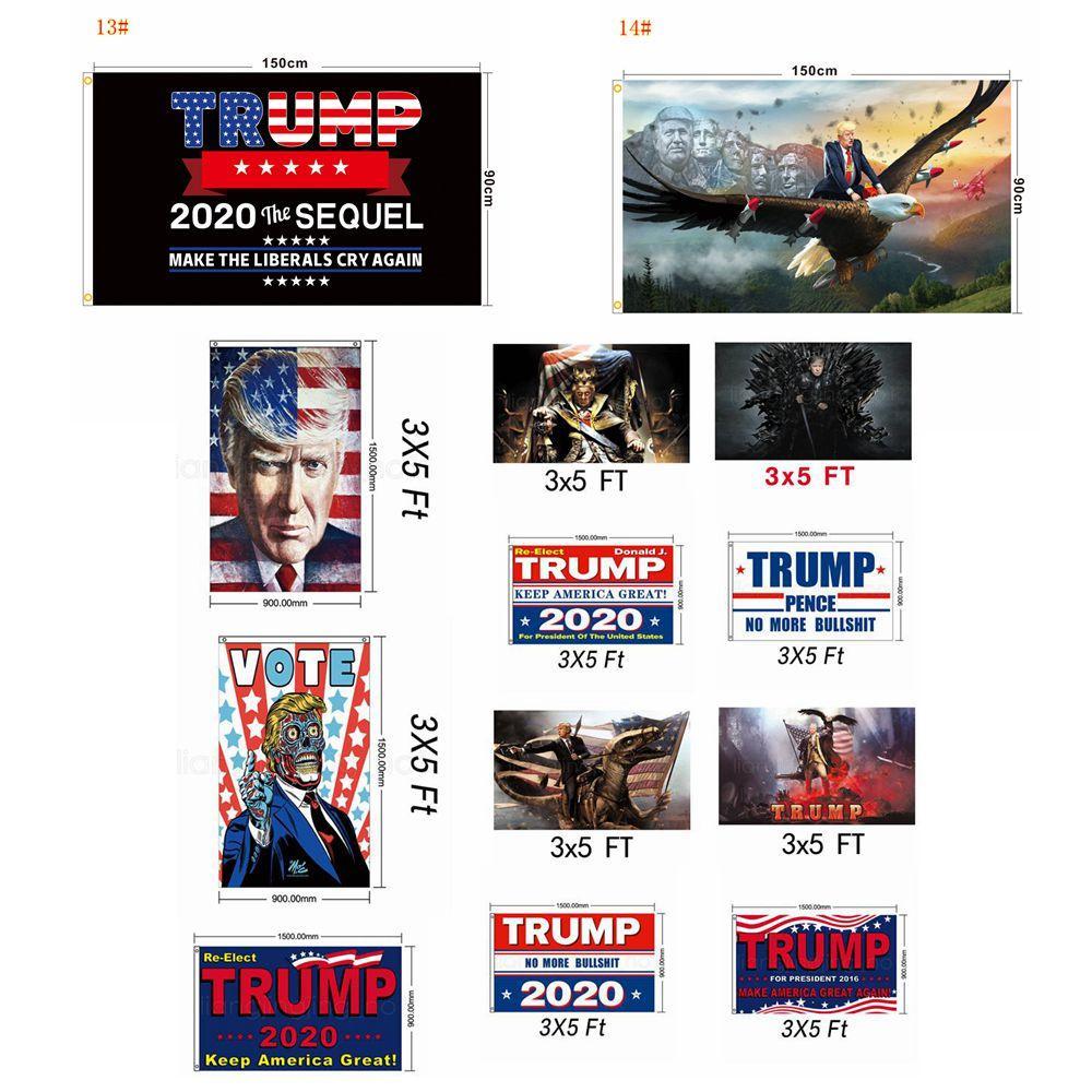 3 * 5 FT Trump 2020 выборы флага орла печататься козырных Баннеры Флаги Фестиваля Партия Поставки флага партия декора реквизит 90 * 150см FFA4016