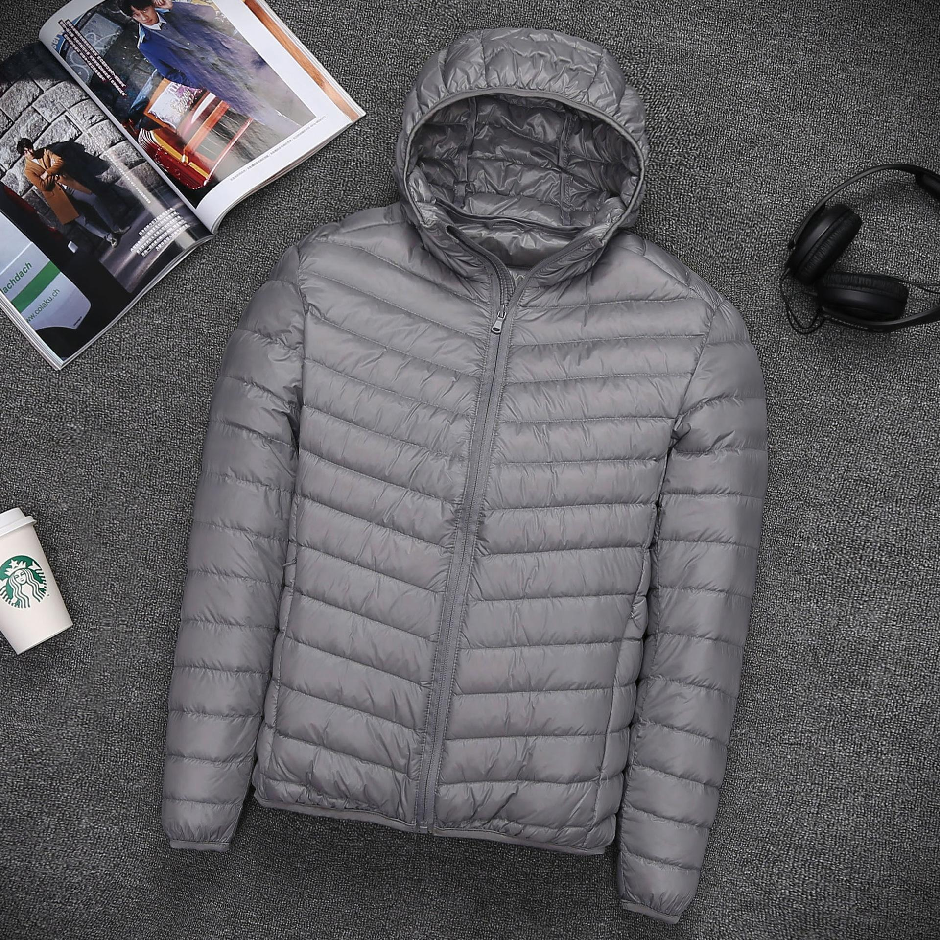 Thin special oversized men short down jacket ultra-thin models in Europe and America men's sports jacket manufacturers a generation of fat