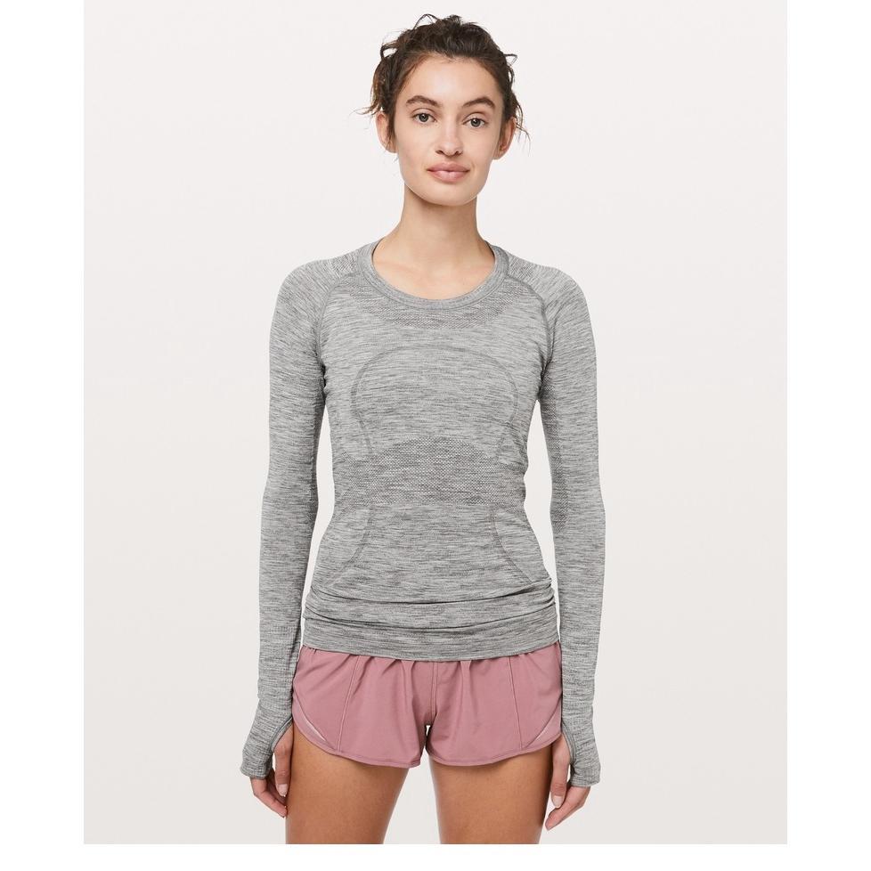 Manga de las mujeres ropa de yoga Deportes larga T Lu | U | emon Gimnasio camisas