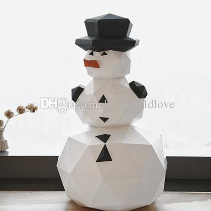 Christmas decorations geometric snowman ornaments doll festival Nordic handmade DIY fun window hotel mall layout Shooting props