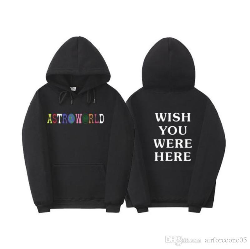 Astroworld Erkek Tasarımcı Kapüşonlular DİLERİZ BURADA Baskılı Spor Erkek Kapşonlu Sweatshirt Casual Erkek Giyim VARDI
