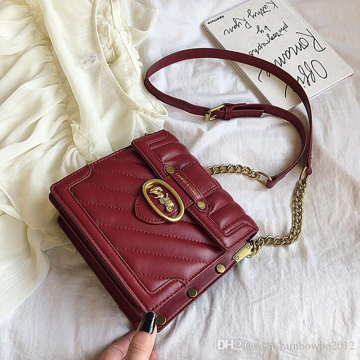 Factory wholesale women handbag new small fresh check chain bag foreign style Joker leather shoulder bag personality flip check leather bag