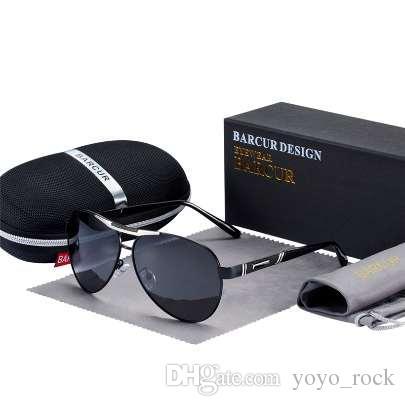 BARCUR 2019 НОВЫЕ мужские солнцезащитные очки поляризованные UV400 защиты путешествия вождения мужской очки cuculos мужские аксессуары для мужчин