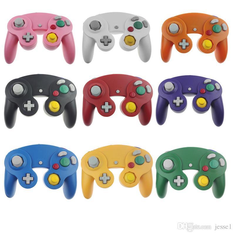 Joystick Gamepad Selling Hot Wired Game Controller para NGC NINTENDO GC Game Cube Para Platinum 22 Cores Com Box colorido