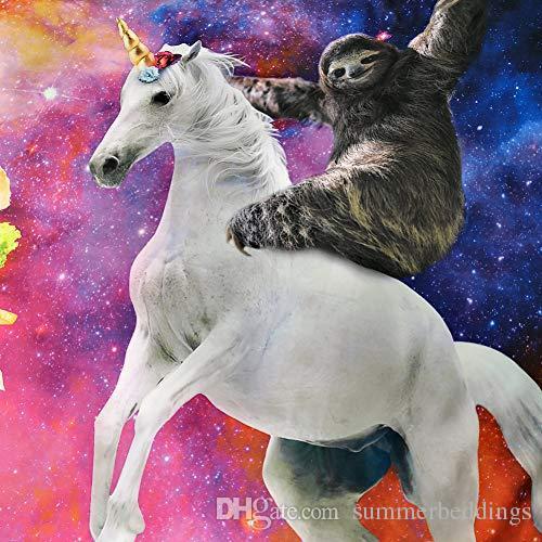 Pink Unicorn Duvet Cover Set Girls Twin Size Bedding for Teen Boys Galaxy Sloth Pillowcase 3pc NO Quilt NO Comforter Kids
