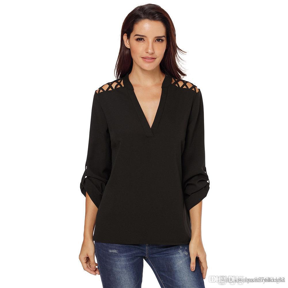 2018 yeni PattyBoutik Kadın Boatneck Kesim strappy Bluz tshirt