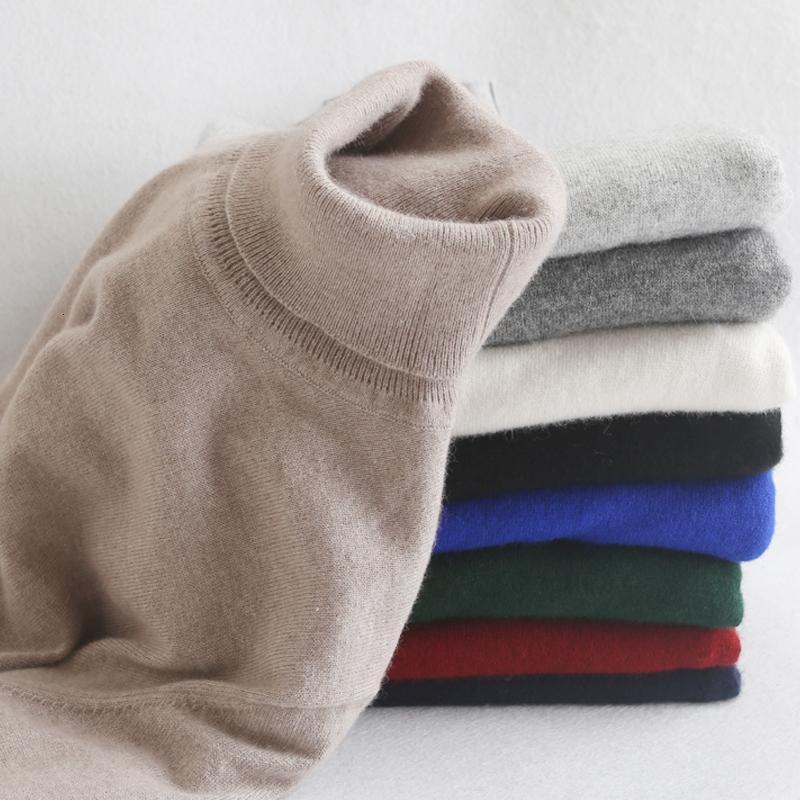 Los hombres suéter y suéter caliente de la venta de cachemira y lana de punto Puentes 11 colores estándar hombre ropa de lana ropa estándar Tops SH190930