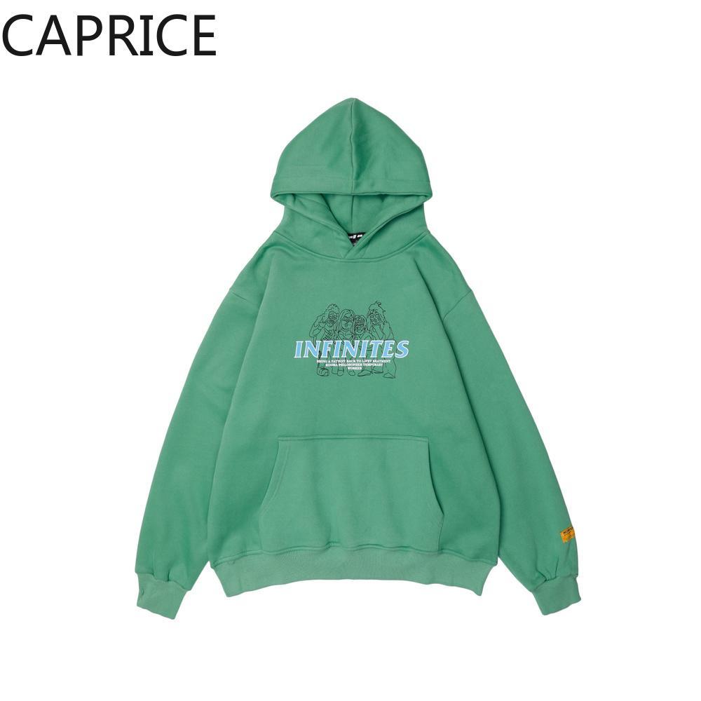 2019 Moda Uzun kollu Harajuku Baskı Üst O-Boyun adam Kapüşonlu sweatshirt hoodie kazak hoody giysi yeşil streetwear tops