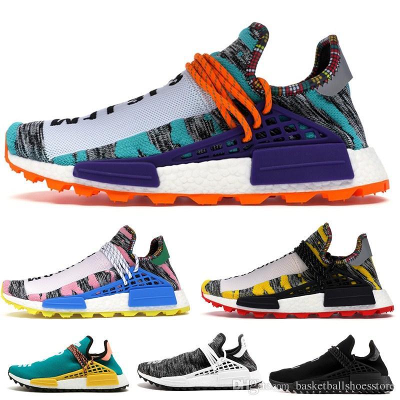 2020 NMD insan ırkı TR Erkekler Pharrell Williams Hu Pharrell Williams Womens Eğitmenler Spor Tasarımcı Sneakers EUR 36-47 Koşu Ayakkabıları