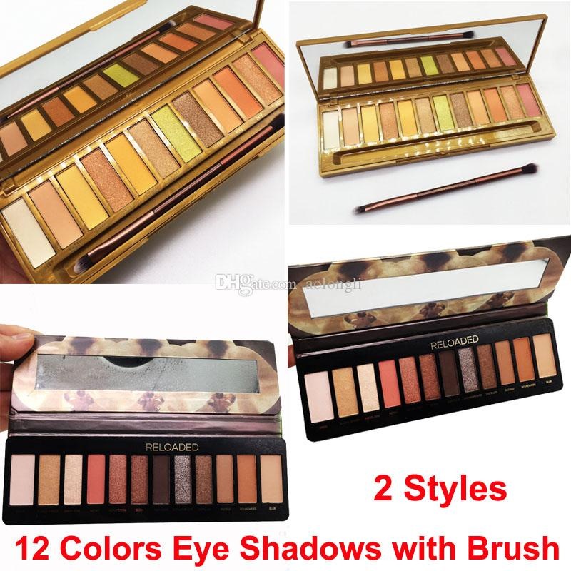 Maquiagem Mel Paleta Reloaded Sombras Eye com escova 12 cores Matte Shimmer nus sombras de olho colinas paleta frete grátis
