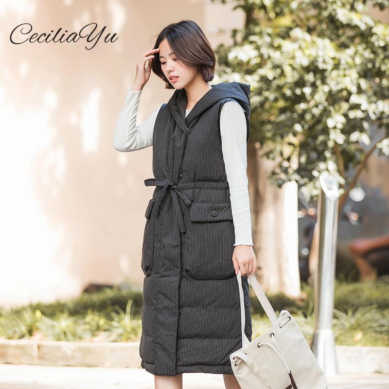 The New Down Coat Otoño e invierno de 2019 Versión coreana Slim Down Waist Chaquetas y abrigos para mujer Invierno Ceciliayu