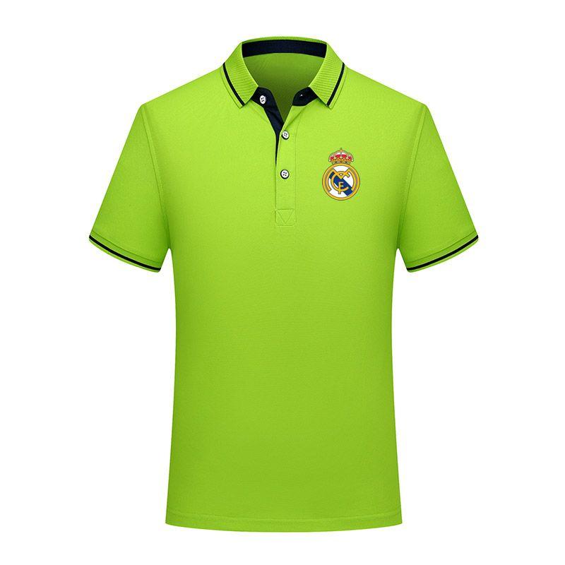 2020 Реал мужчин футбол рубашка-поло с коротким рукавом футбола Polos Мода Спорт обучение Polos Футбол футбол T-Шир