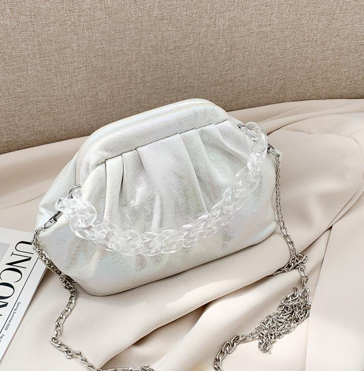 Nube láser nuevo estilo de las mujeres del bolso Hobos pequeña cadena bolsa de playa bolsas de hombro niñas New Cross Body Fashion