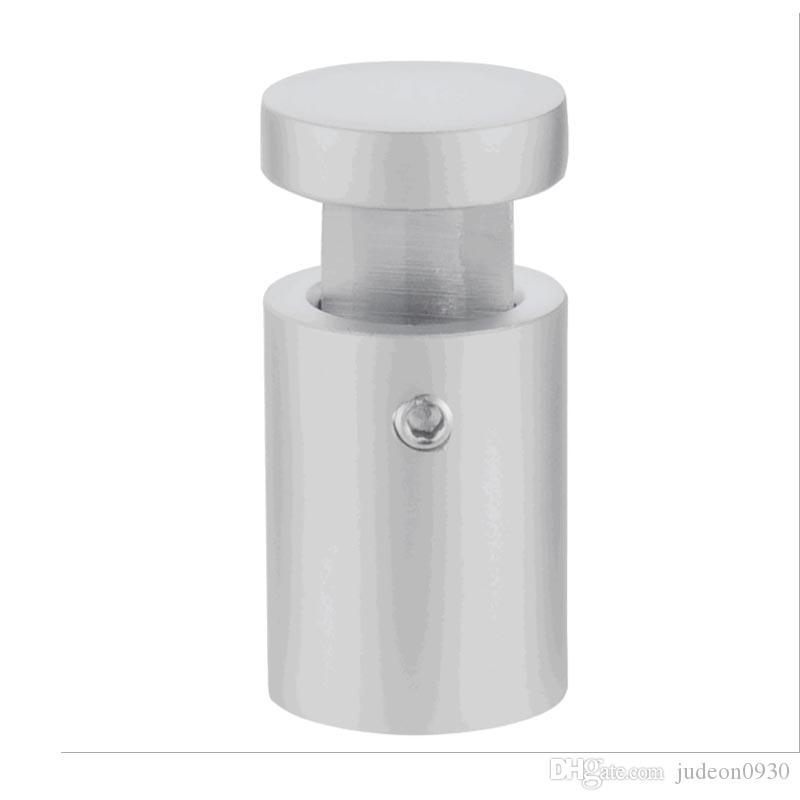 (Paquet / 10 unités) Poignées de bord en alliage d'aluminium pour signe D19xH25mm Pinces pour signes en métal pour panneaux de verre, bois ou métal C-1619A-ST