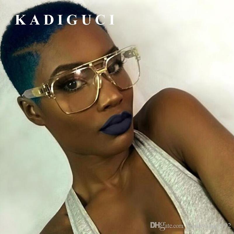 KADIGUCI Yeni Moda Kare Güneş Gözlüğü Erkekler Kadınlar için Degrade Güneş gözlükleri Güneş Vintage Kadınlar Marka Tasarımcısı ulculos de sol UV400 K338