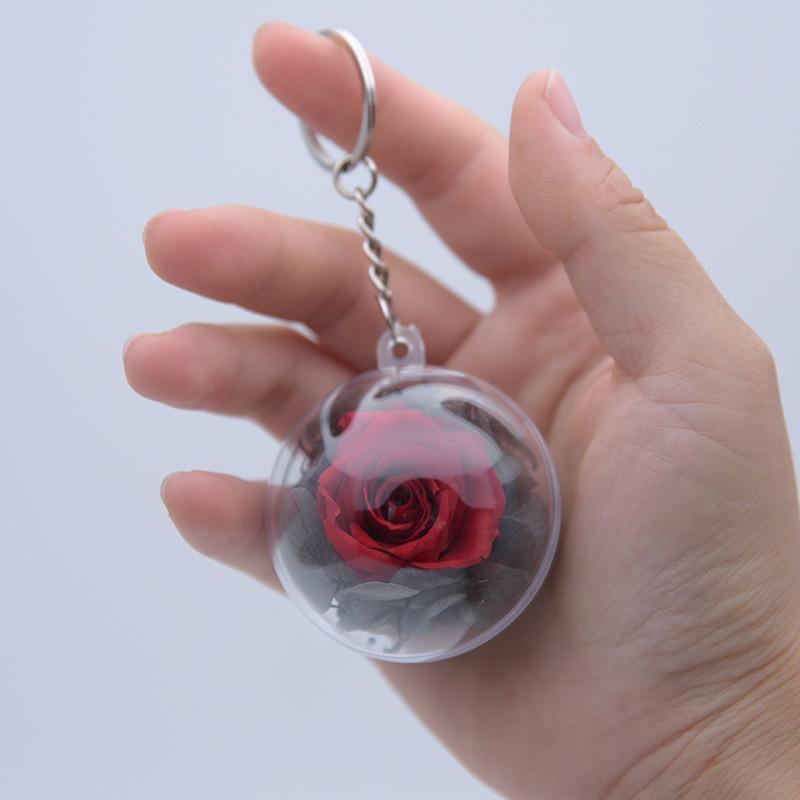 10 PCS DIY Chaveiro Pingente Eterno Rosa Ornamento de Suspensão Flor Seca Para Decorações Home Presentes do Dia Dos Namorados de Natal